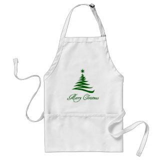 Moderne fröhliche Weihnachtsbaum-Schürze Schürze