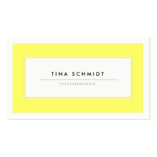 Moderne Gelb Visitenkarten