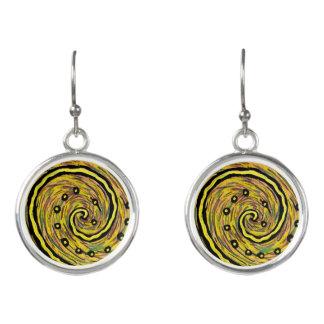 Moderne gelbe abstrakte Kunst Ohrringe
