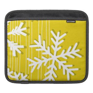 Moderne gelbes und weißes sleeve für iPads