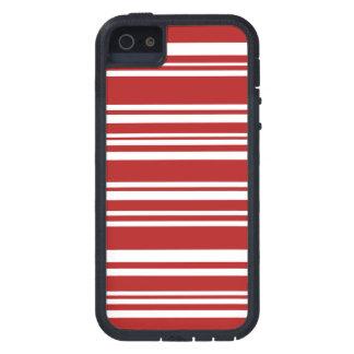 Moderne gemischte rote und weiße Streifen iPhone 5 Etuis