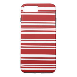 Moderne gemischte rote und weiße Streifen iPhone 7 Plus Hülle