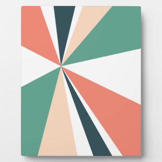 Moderne geometrische Kunst-Retro Farbexplosion Fotoplatte