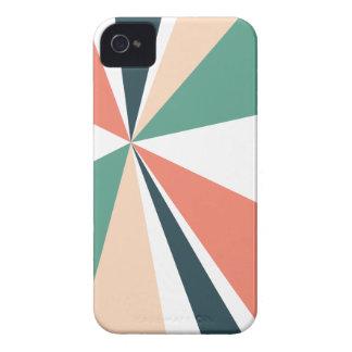 Moderne geometrische Kunst-Retro Farbexplosion iPhone 4 Hülle