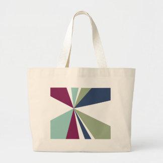 Moderne geometrische Kunst-Retro Farbexplosion Jumbo Stoffbeutel