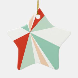 Moderne geometrische Kunst-Retro Farbexplosion Keramik Ornament