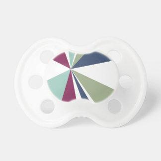 Moderne geometrische Kunst-Retro Farbexplosion Schnuller