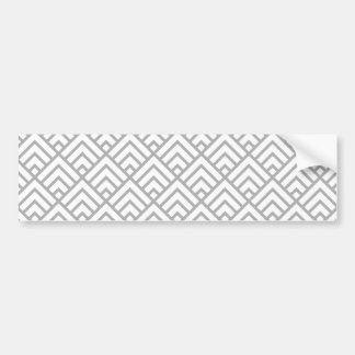 Moderne geometrische Muster-graues Weiß-Dreiecke Autoaufkleber