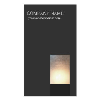Moderne Glühen-Visitenkarte Visitenkarten