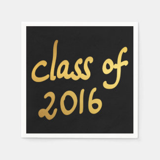 Moderne Goldklasse von Typografie-Schwarzem 2016 Papierserviette