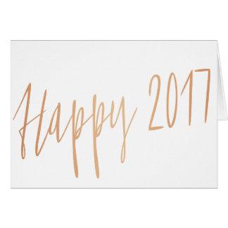 "Moderne GoldRosenkalligraphie ""glückliches 2017 "" Karte"