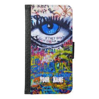 Moderne Graffiti des blauen bösen Blicks Geldbeutel Hülle Für Das Samsung Galaxy S6