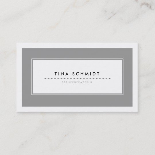 Moderne Grau Visitenkarten Visitenkarte Zazzle De