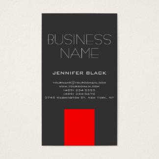 Moderne graue rote Berater-Visitenkarte Visitenkarten