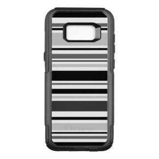 Moderne graue, schwarze, weiße Streifen OtterBox Commuter Samsung Galaxy S8+ Hülle