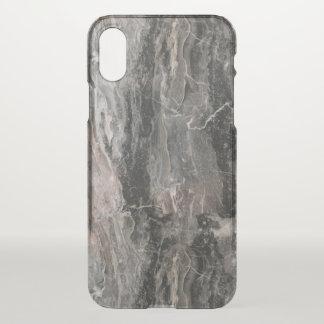 Moderne graue Ton-Marmorbeschaffenheit iPhone X Hülle