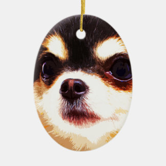 moderne große Chihuahua Keramik Ornament