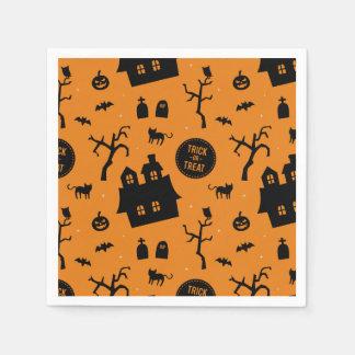 Moderne Halloweentrick-oder Serviette