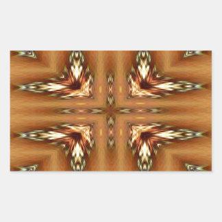 Moderne Herbstfarben-gefiedertes symmetrisches Rechteckiger Aufkleber