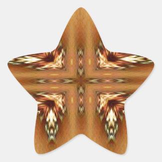 Moderne Herbstfarben-gefiedertes symmetrisches Stern-Aufkleber
