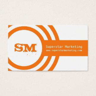 Moderne Hipster-Geschäfts-Karte, orange Visitenkarten