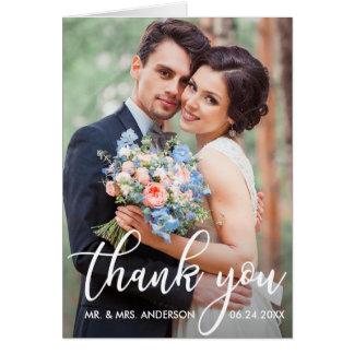 Moderne Hochzeit danken Ihnen Karte