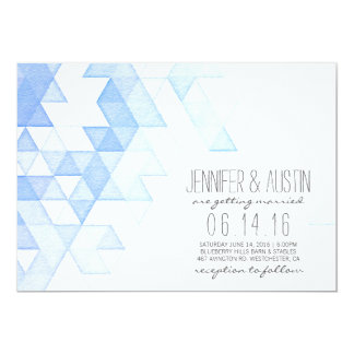 Moderne Hochzeit der Aquarell-geometrische 12,7 X 17,8 Cm Einladungskarte