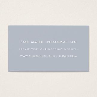 Moderne Hochzeits-Website kardiert | Schiefer Visitenkarte