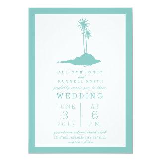 Moderne Insel-Strand-Hochzeits-Einladung - 12,7 X 17,8 Cm Einladungskarte