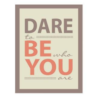 Moderne Inspirations-Zitat-Herausforderung, zum Postkarten