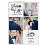 Moderne Kalligraphie-Hochzeit danken Ihnen, Schwar Karten