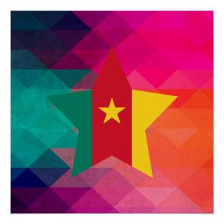 Moderne Kamerun-Flagge Poster