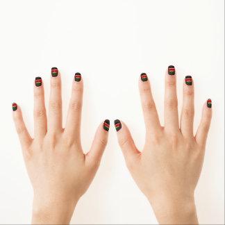 Moderne Kenyanflagge Minx Nagelkunst