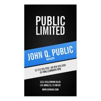 Moderne korporative schwarze Visitenkarten