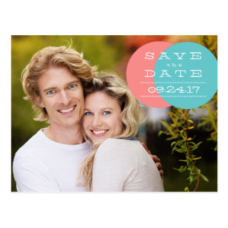 Moderne Kreis-Foto-Save the Date Postkarte