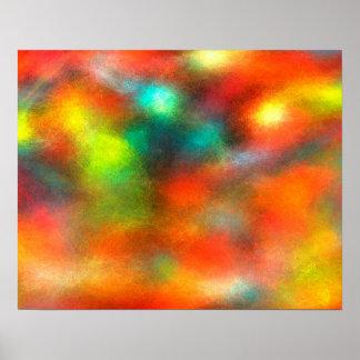 Moderne Kunst-abstrakte Farben Poster