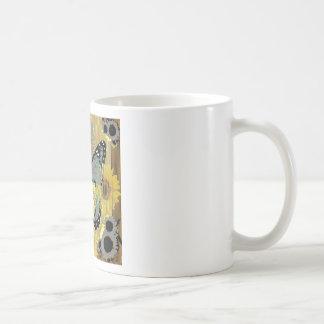 Moderne Kunst grauer MONARCHFALTER-ENTWURF Kaffeetasse