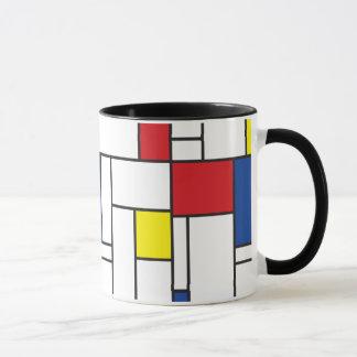 Moderne Kunst-Tasse Mondrian Minimalist De Stijl Tasse