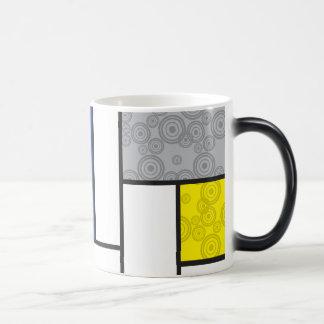 Moderne Kunst-Tasse Mondrian Minimalist De Stijl Verwandlungstasse