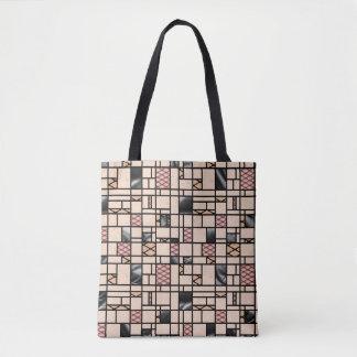 Moderne KunstFishnets und lederne Tasche