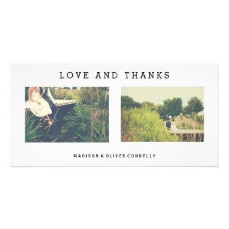 Moderne Liebe und Dank, die Foto-Collage Wedding Karte