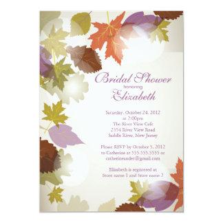 Moderne lila Blatt-Brautparty-Einladung 12,7 X 17,8 Cm Einladungskarte