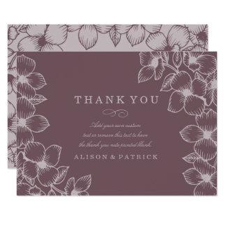 Moderne lila Blumen danken Ihnen Karten Karte