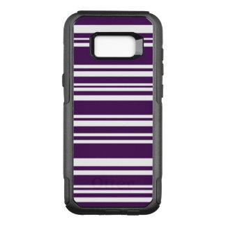 Moderne lila und weiße Streifen OtterBox Commuter Samsung Galaxy S8+ Hülle