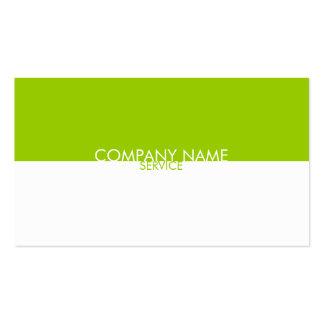 Moderne Limone grüne weiße Visitenkarte