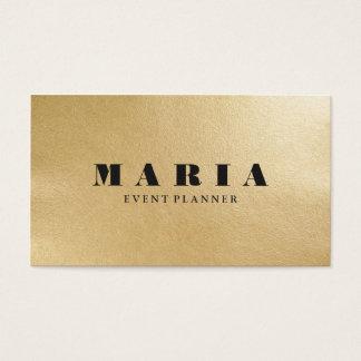 Moderne LuxusImitatgoldschwarzbeschaffenheit Visitenkarte
