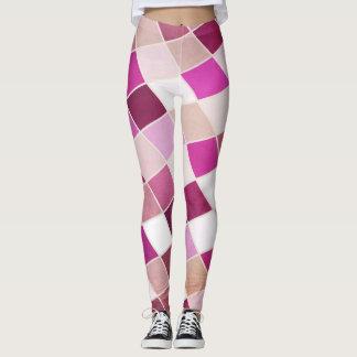 Moderne Malvenfarbe Leggings