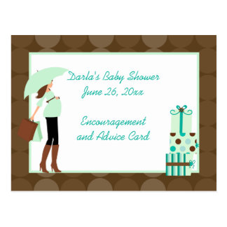 Moderne Mamma-(grüne) Babyparty-Ratekarten Postkarten