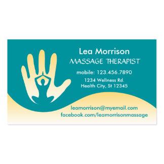Moderne Massage-Therapeut-Visitenkarte Visitenkarten