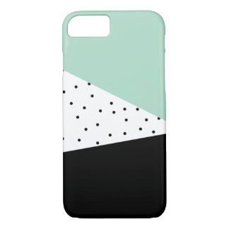 Moderne Minze und schwarzer iPhone Kasten iPhone 8/7 Hülle